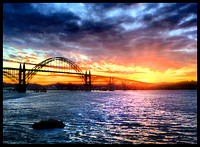 YAQUINA BAY BRIDGE SUNRISE